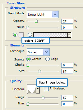 Egg Inner Glow Settings