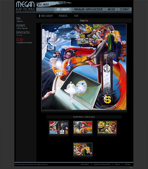 PHD Portfolio : Mjm Fine Artist Website : Artist Gallery