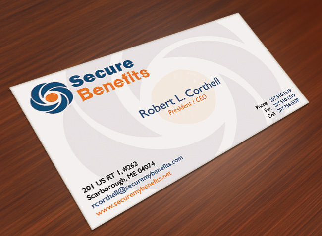 PHD Portfolio Secure Benefits Logo & Business Card Design